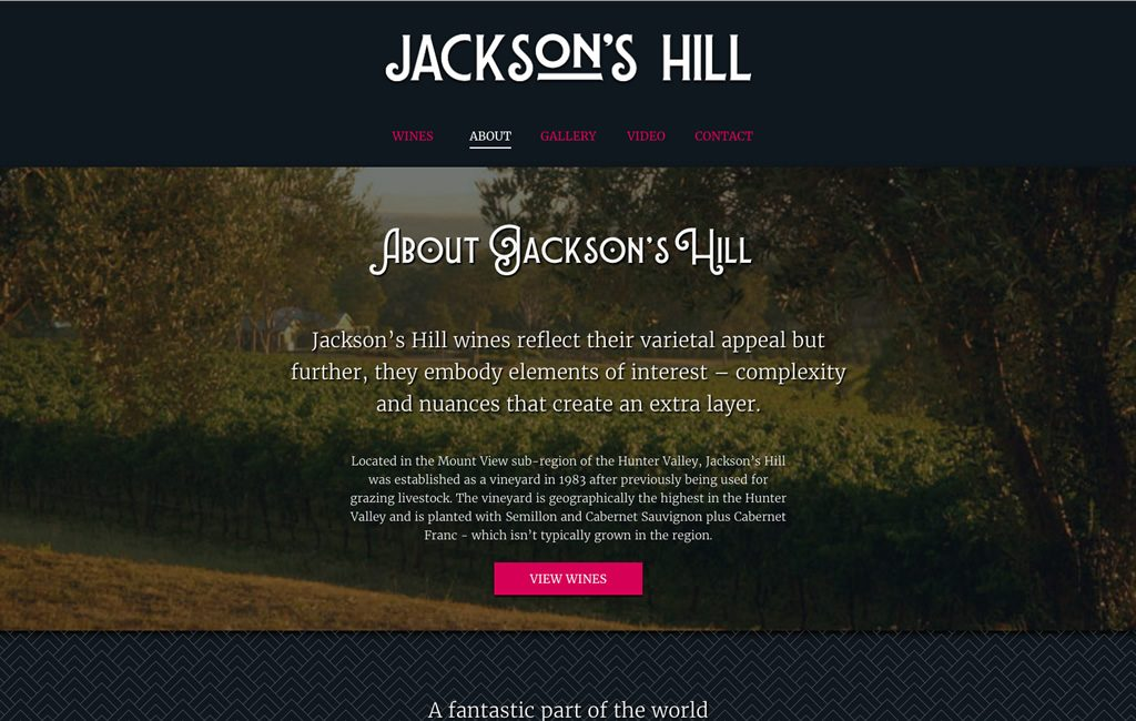 Jackson's Hill About